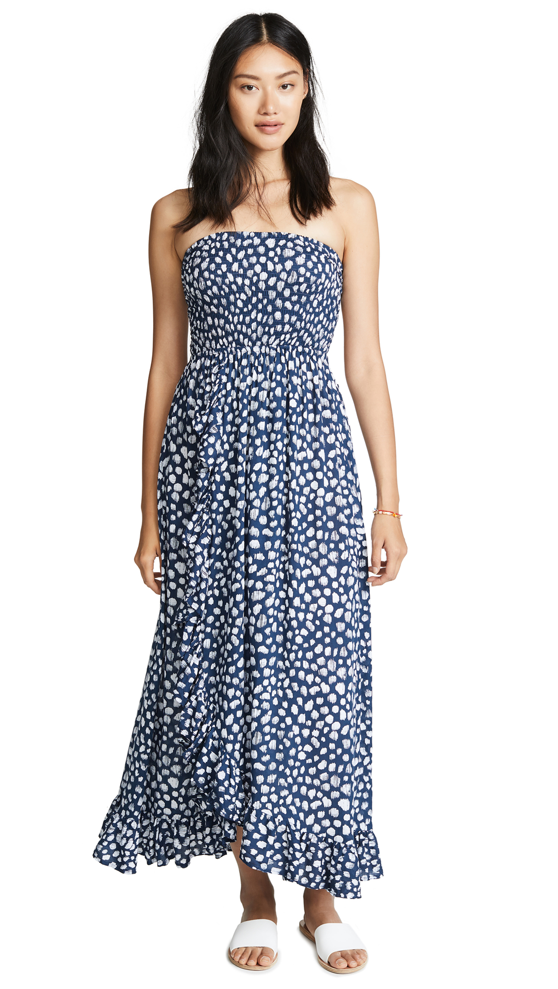 TIARE HAWAII Eri Long Dress in Frost Navy