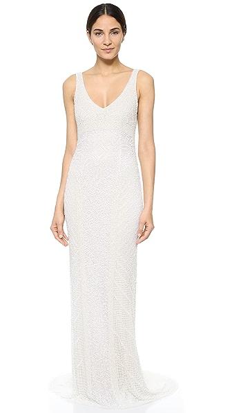 Theia Caitlin Sequin Deco Gown