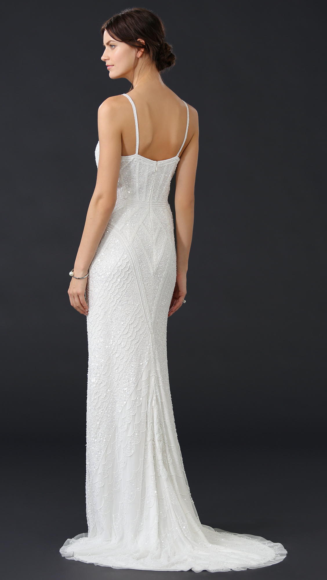 Theia Marion Beaded Slip Gown | SHOPBOP