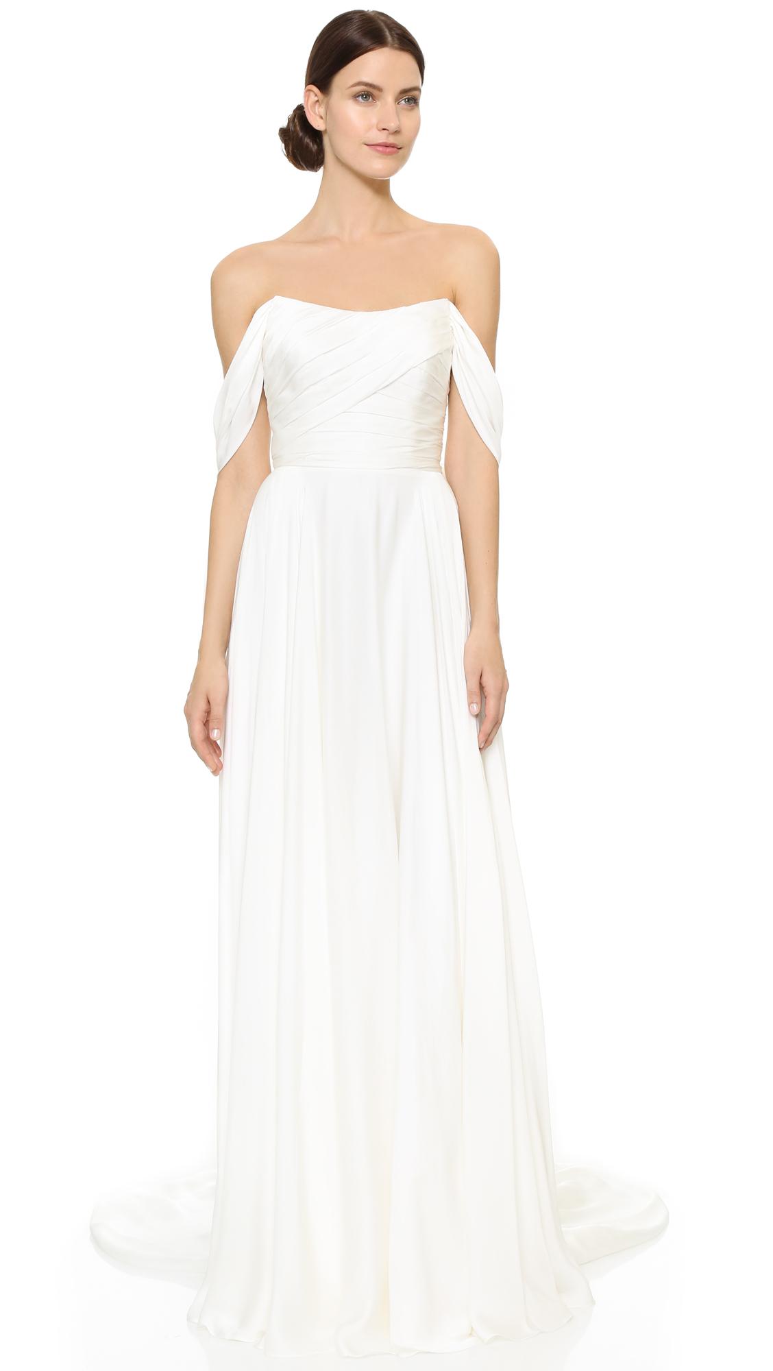 Theia Delphine Off Shoulder Gown   SHOPBOP