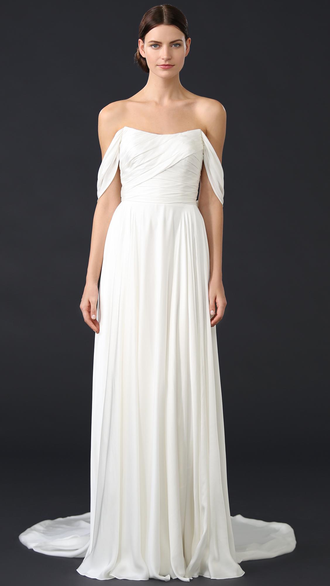 Theia Delphine Off Shoulder Gown | SHOPBOP