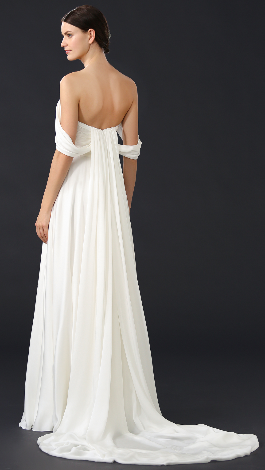 Theia Delphine Off Shoulder Gown | SHOPBOP