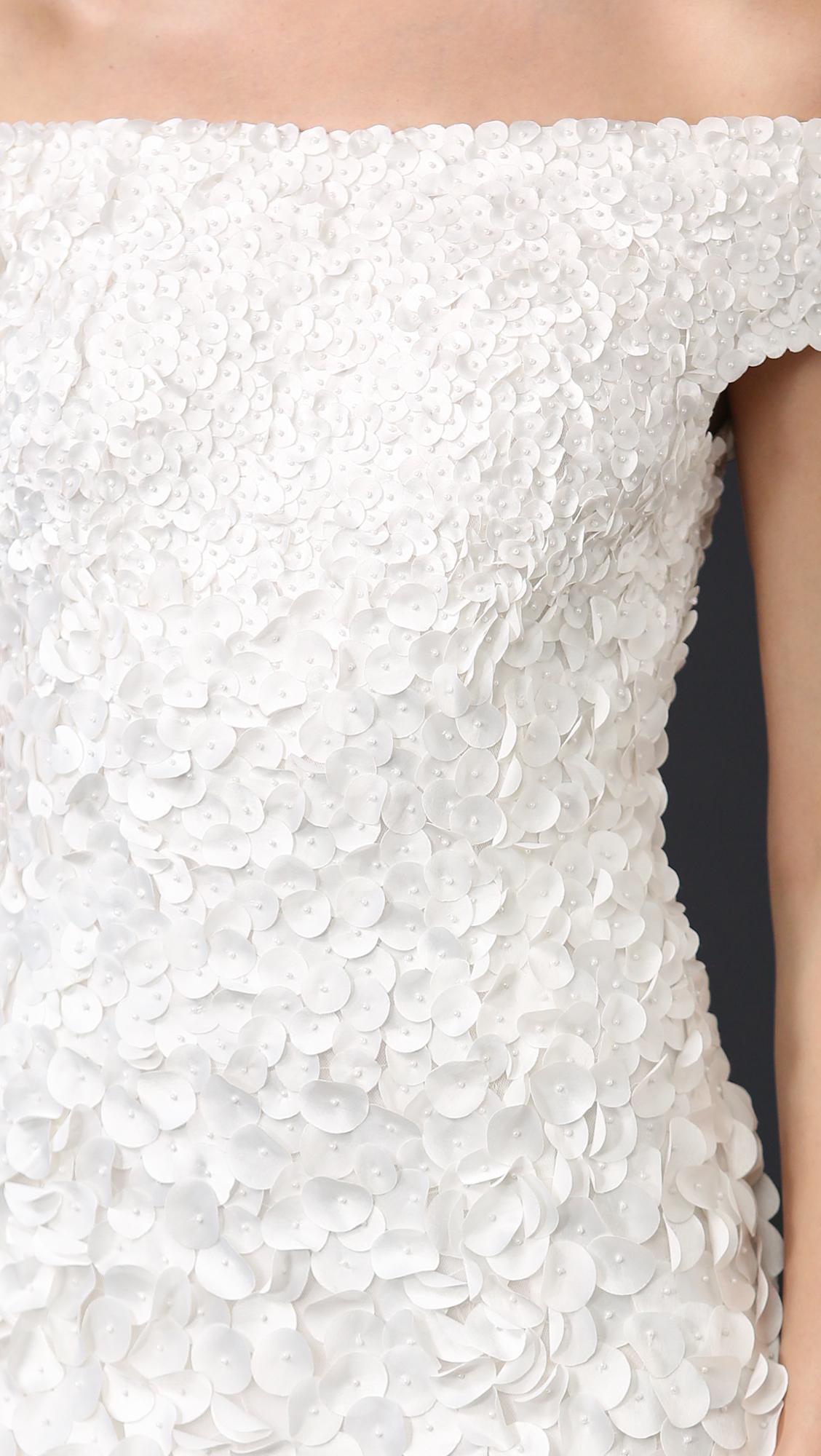 Theia Marina Off the Shoulder Petal Gown | SHOPBOP