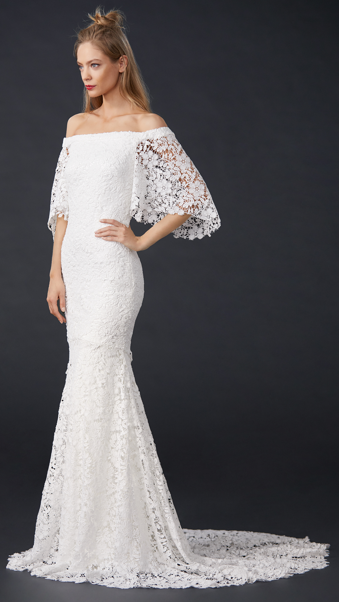 Theia Sasha Off the Shoulder Lace Gown | SHOPBOP