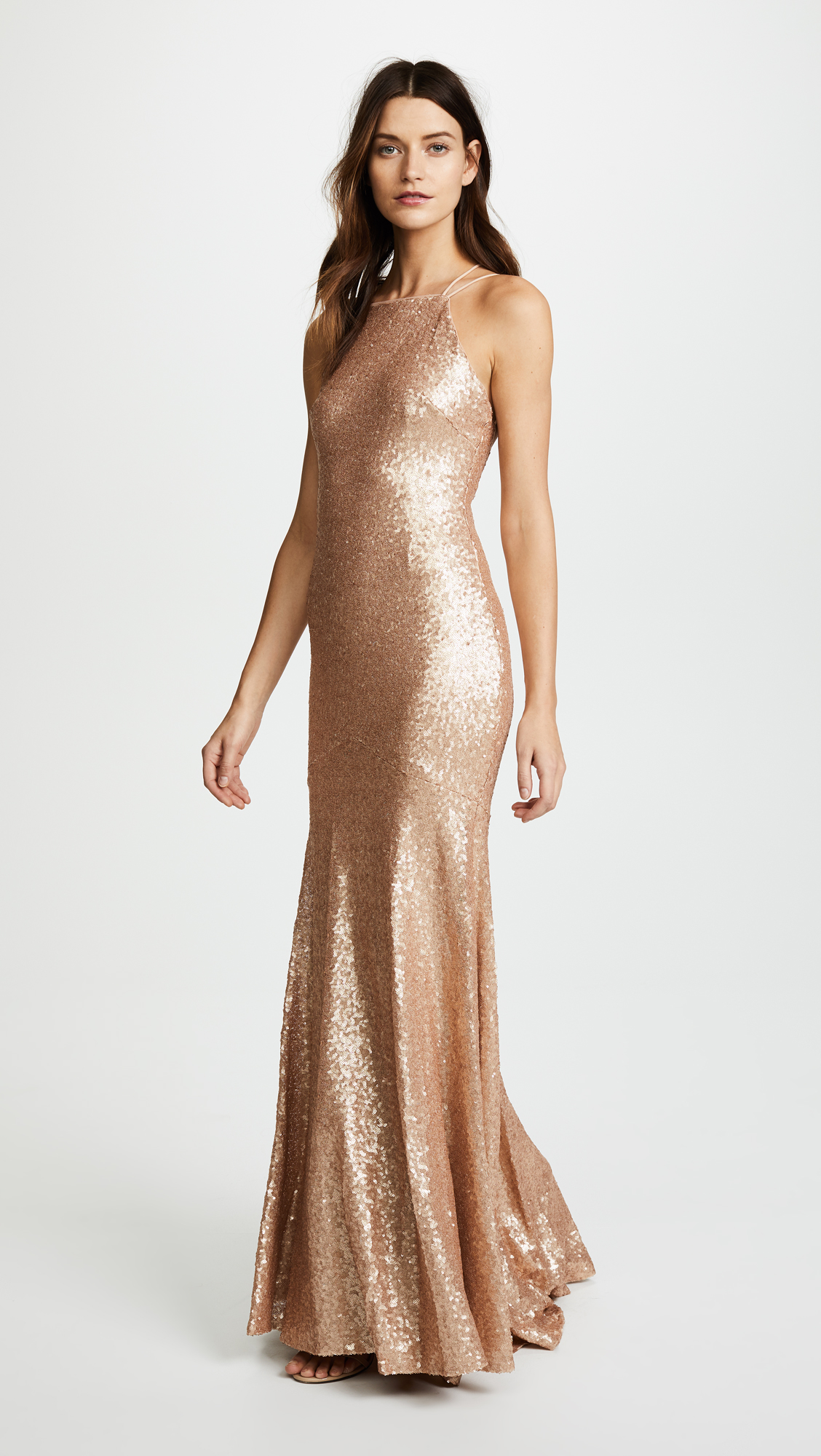 Theia Jessica Sleeveless Mermaid Gown | SHOPBOP