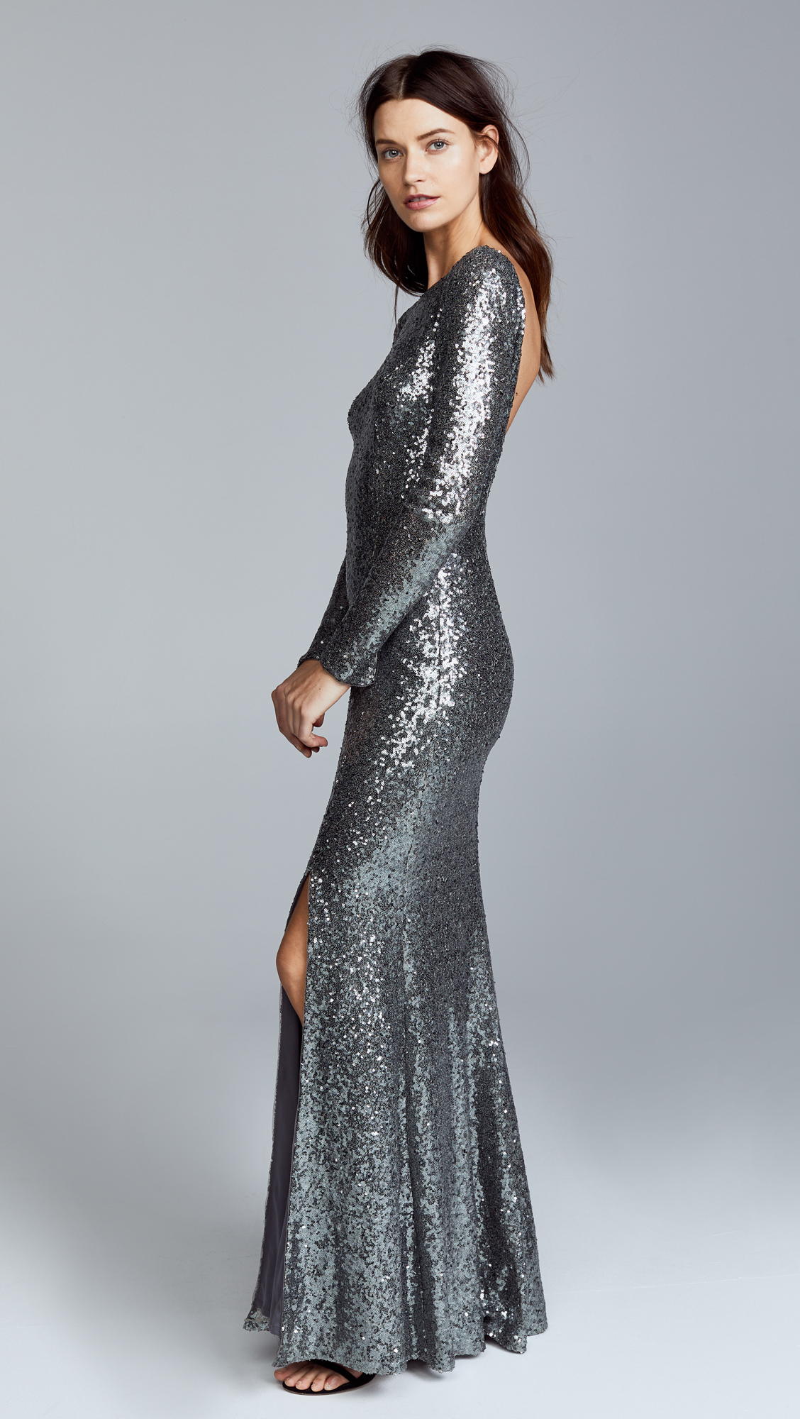 Magnificent Theia Harlow Sequin Gown Illustration - Wedding and ...