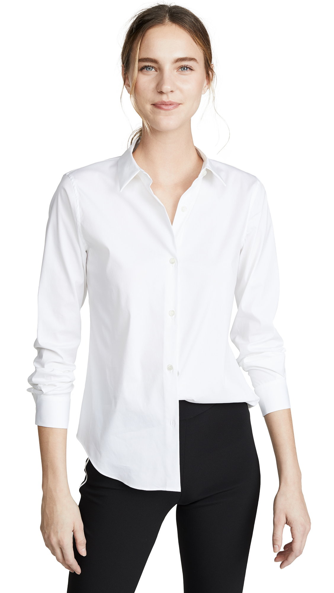 Buy Theory online - photo of Theory Luxe Tenia Button Down Blouse