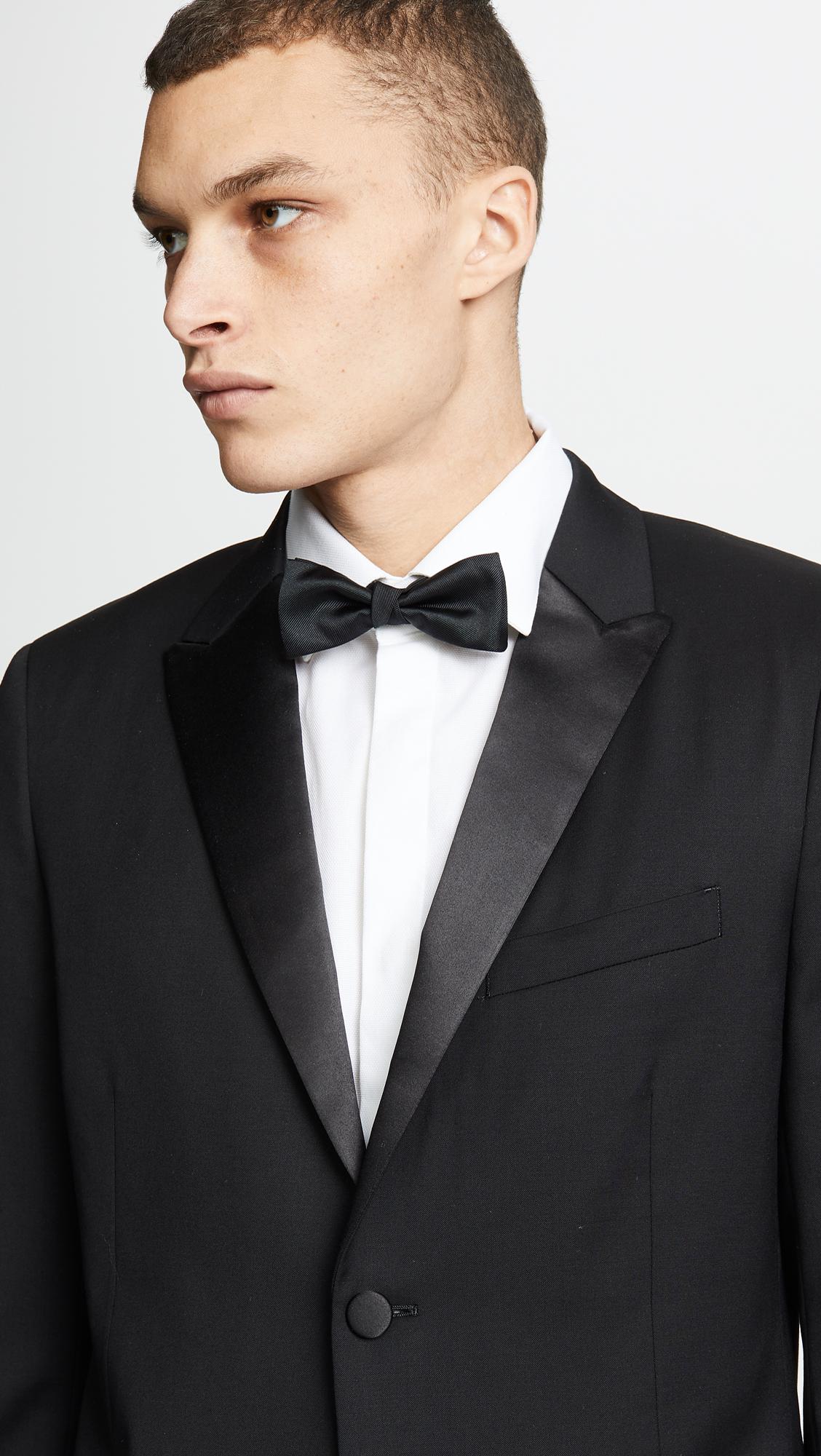 Theory Wellar Tuxedo Jacket East Dane Black Blazer Jaket Korea Style Sk 15
