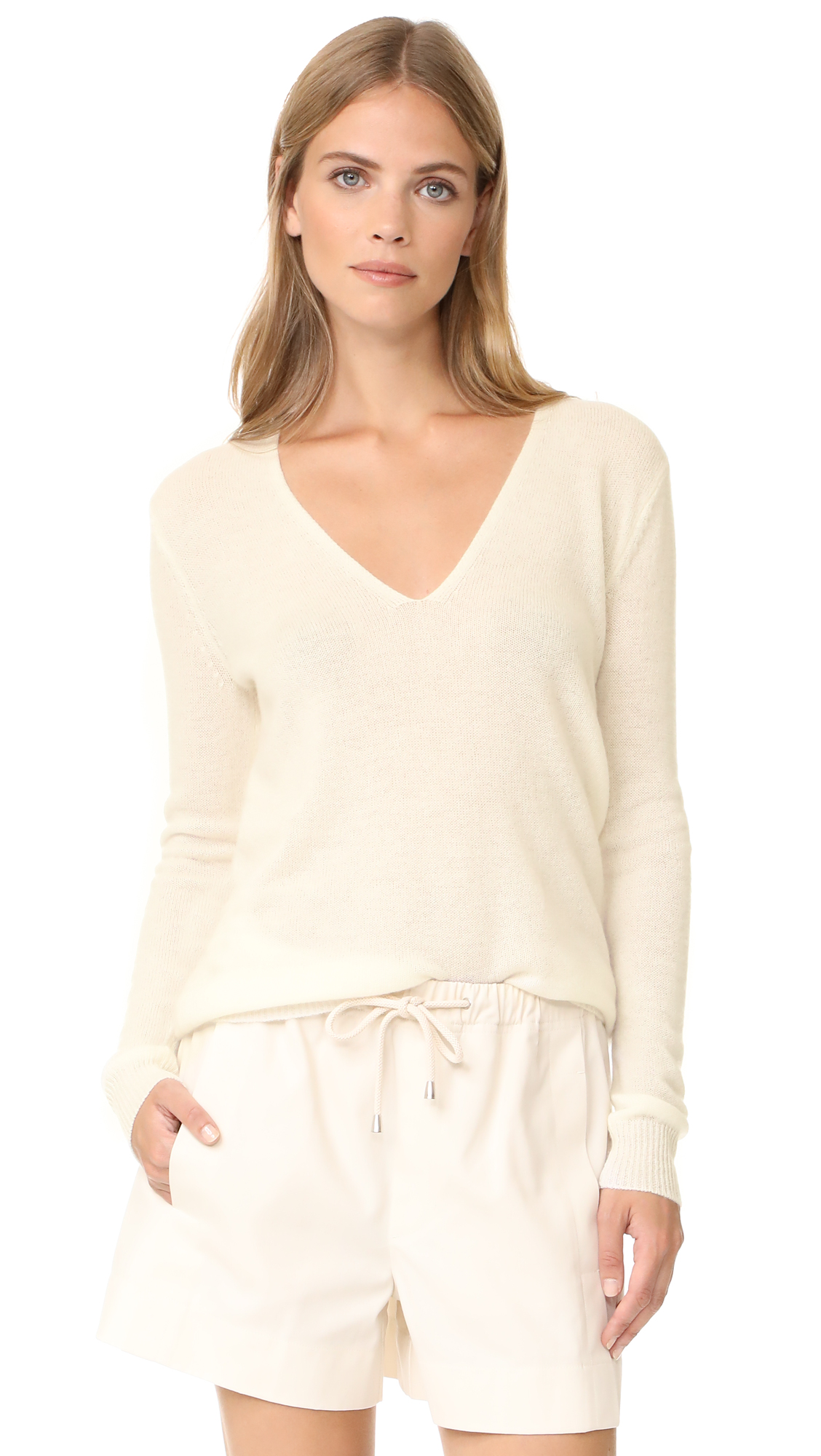 Theory Adrianna Cashmere Sweater - Ivory