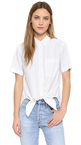 Theory Hekanina Button Down - White at Shopbop