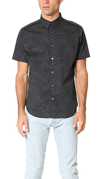 Theory Benner Ilium Short Sleeve Shirt