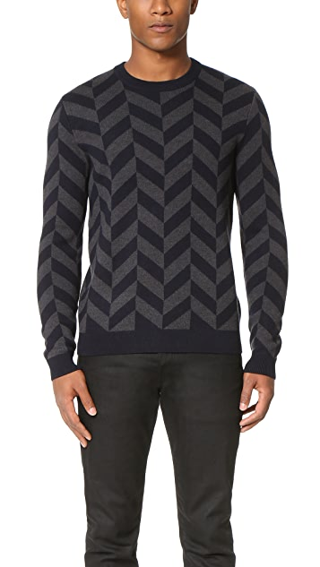 Theory Herrigs Wool Crew Sweater