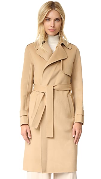 Theory Oaklane Double Faced Wool Coat - Palomino at Shopbop