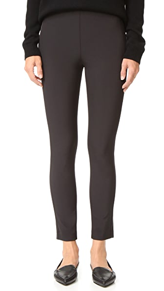 Theory Navalane Back Zip Skinny Pants - Black