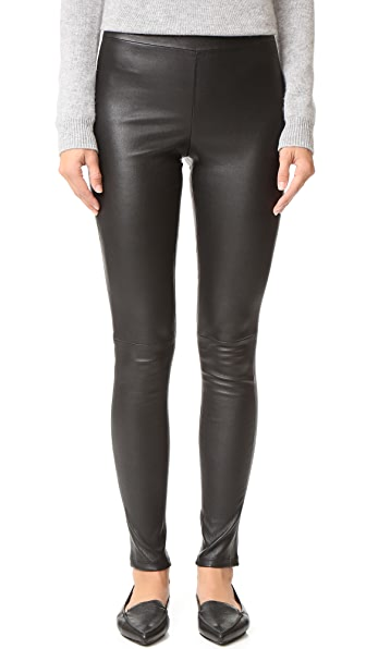 Theory Adbelle Leather Pants - Black
