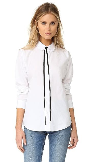 Theory Anesha Shirt with Black Tie