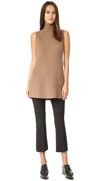Theory Embree Sleeveless Mock Neck Sweater