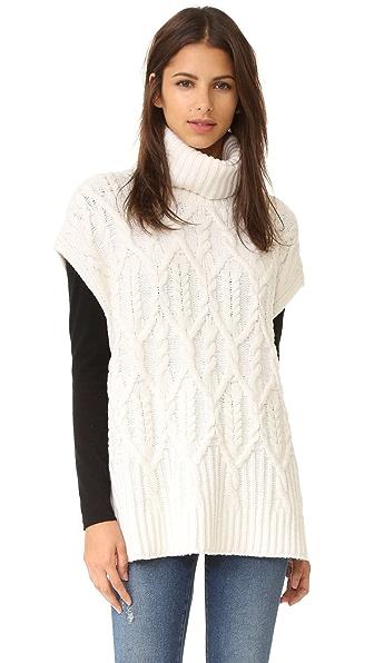 Theory Boseley C Sleeveless Sweater - Ivory