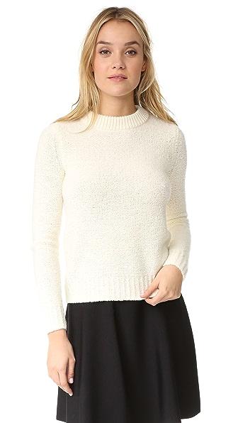 Theory Boska Nubby Cropped Sweater - Ivory