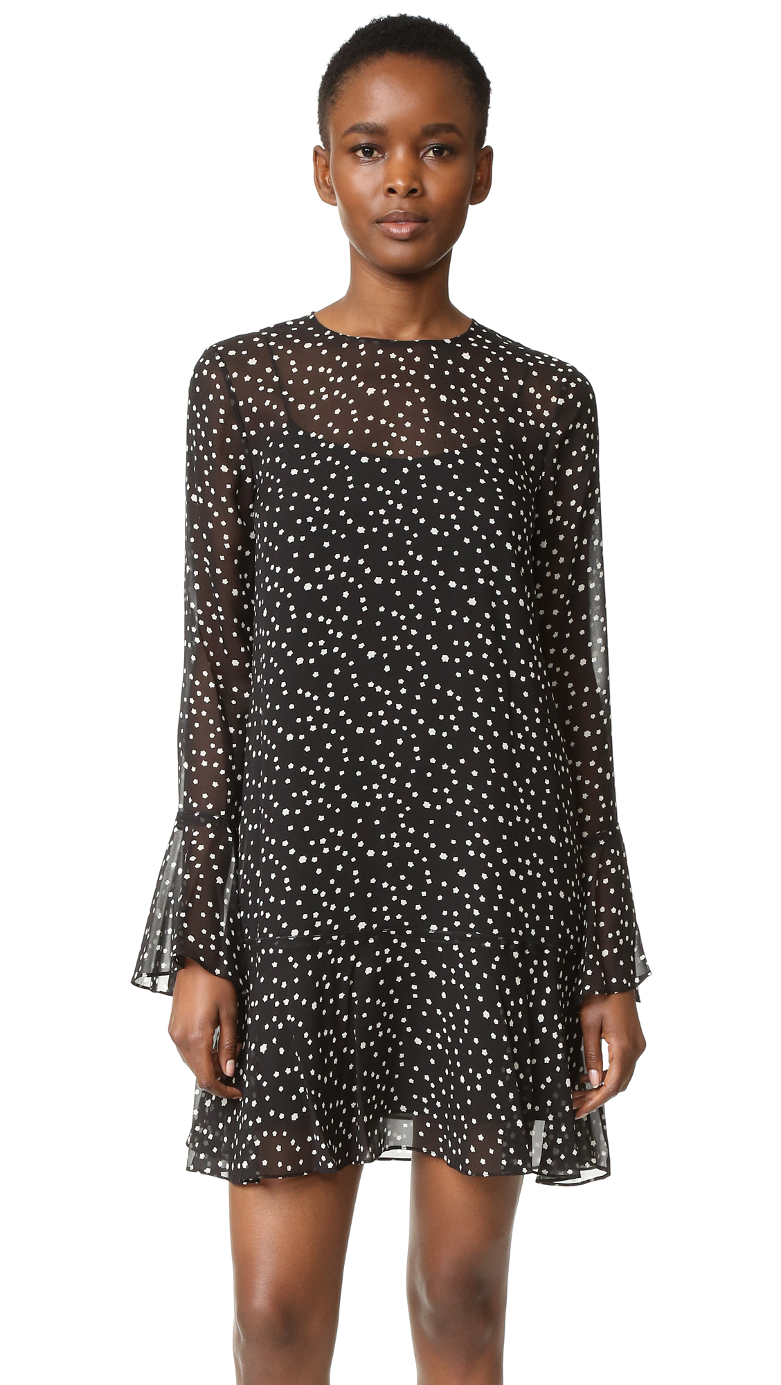 Theory Marah Starry Print Dress - Black/Ivory at Shopbop