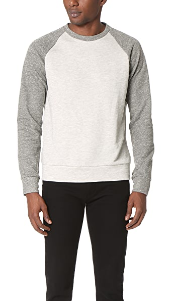 Theory Veton Axis Terry Raglan Crew Sweatshirt