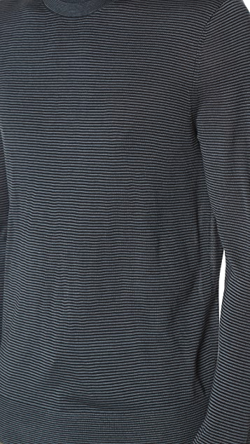 Theory Villings Admiral Stripe Sweater