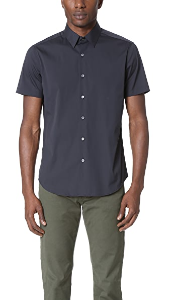 Theory Sylvain Wealth Short Sleeve Shirt
