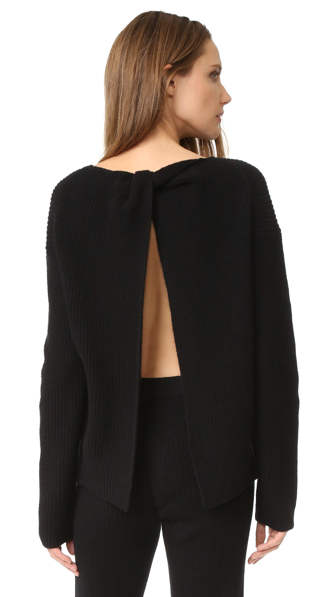 Theory Twylina B Cashmere Sweater - Black at Shopbop
