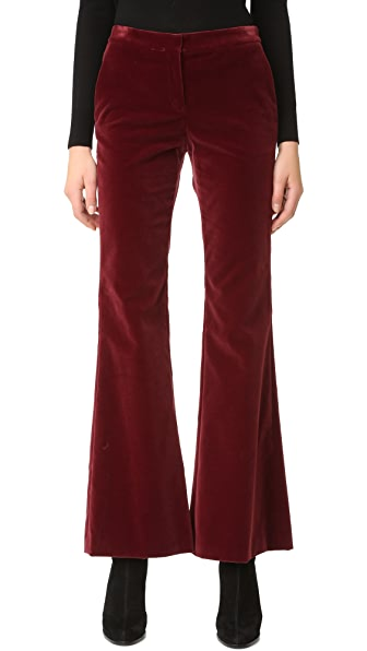 Theory Caroleena Velvet Pants - Black Cherry