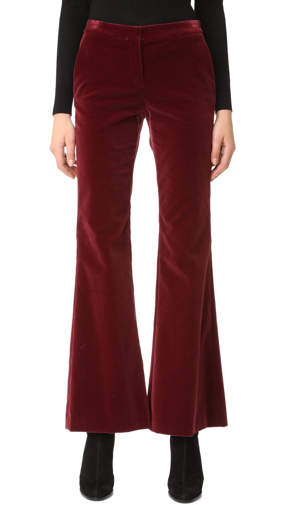Theory Caroleena Velvet Pants - Black Cherry at Shopbop