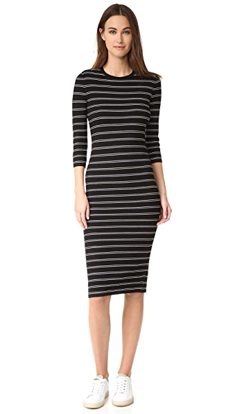 Theory Delissa B Dress - Black/White