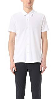 Theory Aden Air Pique Short Sleeve Shirt