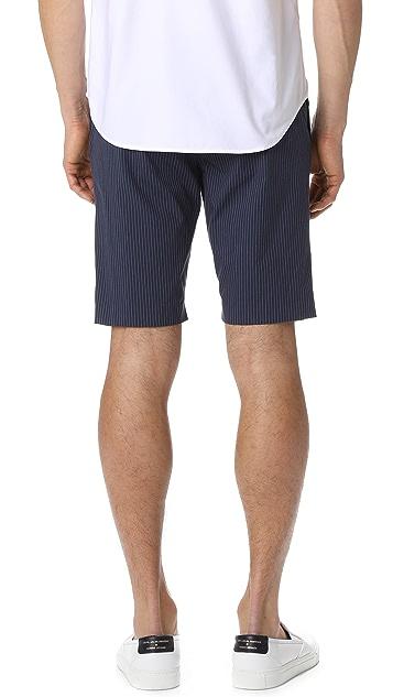 Theory Jake Striped Shorts
