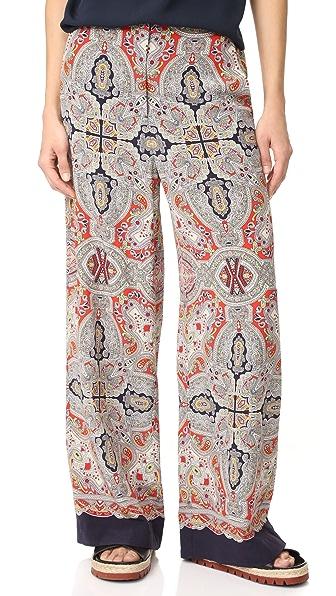 Theory Rye Ridge B Wide Leg Pants at Shopbop