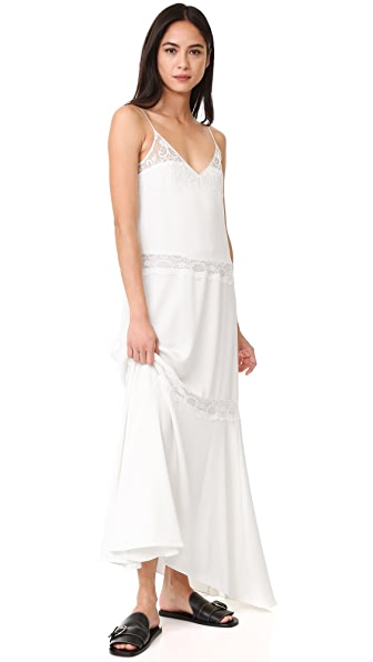 Theory Walela Maxi Dress In Ivory
