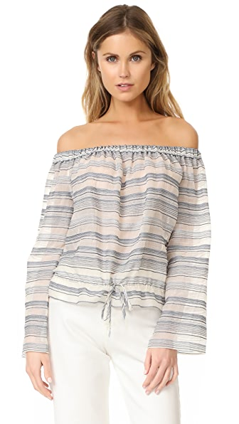 Theory Odettah Off Shoulder Top