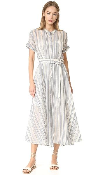 Theory Avinka Short Sleeve Shirt Dress at Shopbop