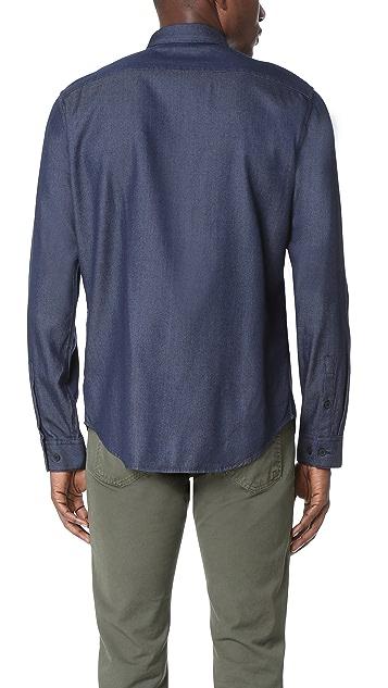 Theory Zack Indigo Shirt