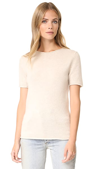 Theory Tolleree Top - Light Heather Clay