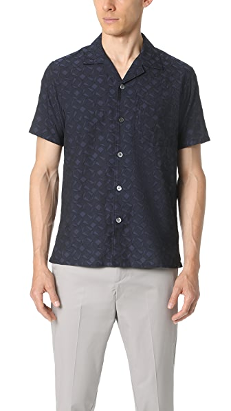Theory Havana Short Sleeve Button Down Shirt