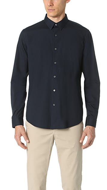Theory Bound Poplin Button Down Shirt