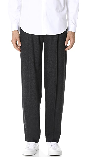 Theory Pleated Wide Trousers
