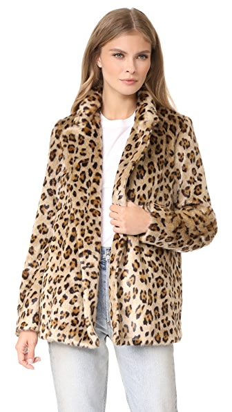 Theory Clairene FB Faux Fur Coat at Shopbop