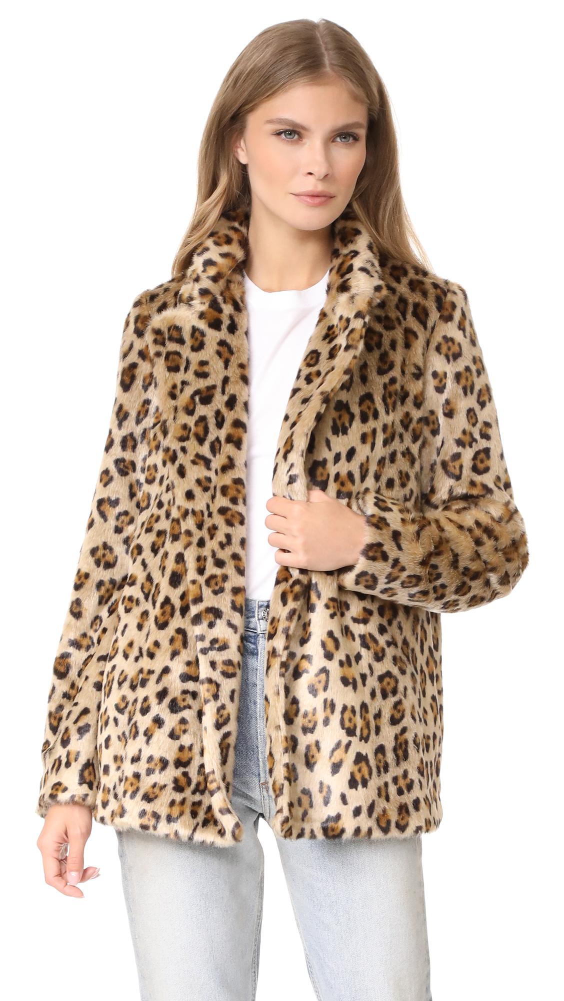 Theory Clairene FB Faux Fur Coat - Multi