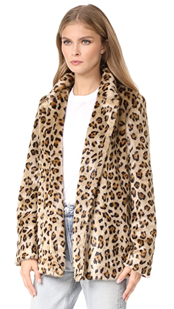 Theory Clairene FB Faux Fur Coat