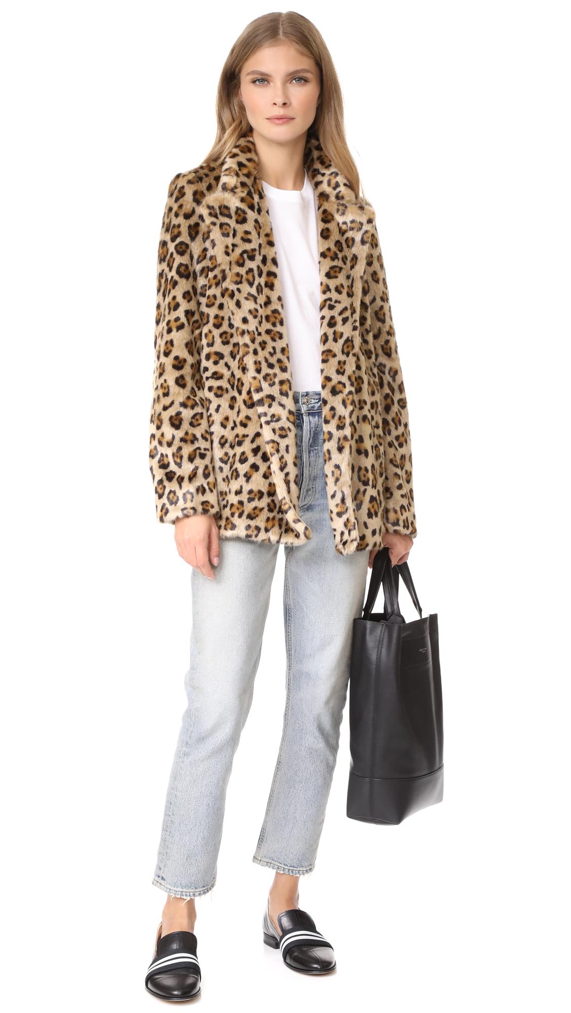 5110b16e95 Theory Clairene FB Faux Fur Coat   SHOPBOP