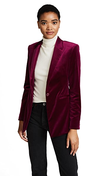 Theory Velvet Power Jacket II In Electric Pink