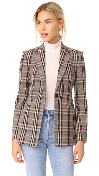Theory Plaid Power Jacket In Multi