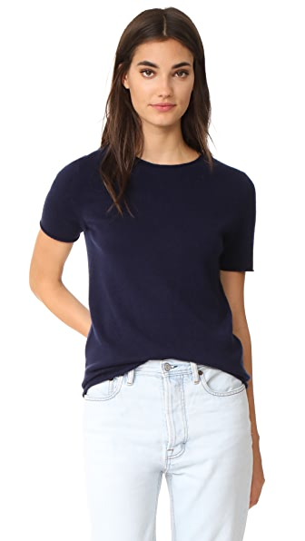 Theory Tolleree Cashmere Tee - Dark Sea