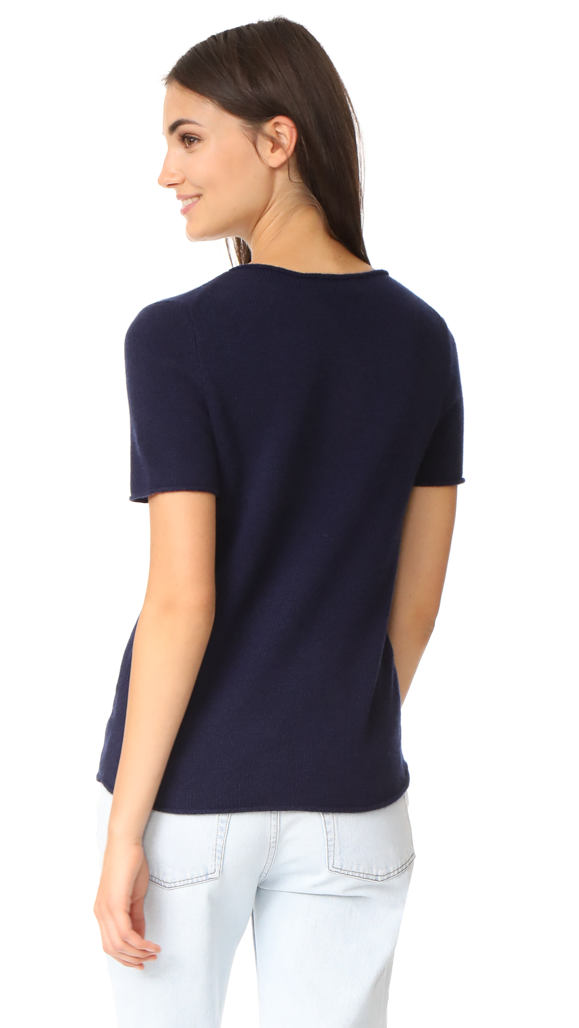 3be0d0bfb6c Theory Tolleree Cashmere Tee   SHOPBOP